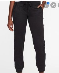 NWT! Old Navy Midrise Go-Dry Joggers! Black!